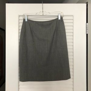 Lafayette148 Gray Suiting Skirt
